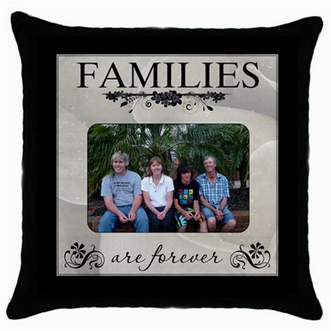 Hobbs Family By Rosslyn   Throw Pillow Case (black)   V96nwrerx60z   Www Artscow Com Front