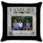 Hobbs Family - Throw Pillow Case (Black)