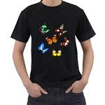 butterfly - Men s T-Shirt (Black)