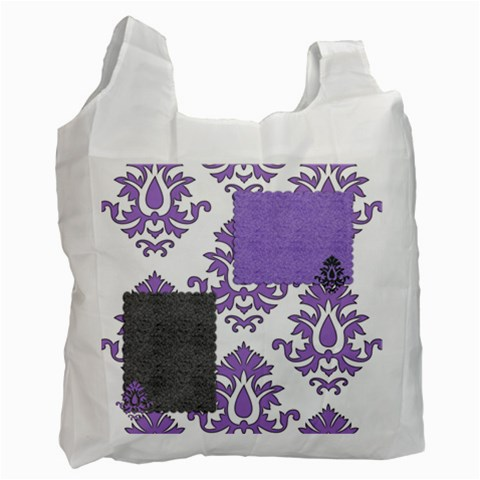 Lavender Flourish By Amanda   Recycle Bag (one Side)   W8dd6s2mn4dq   Www Artscow Com Front