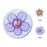 Flower Power Round floral playing cards - Playing Cards (Round)