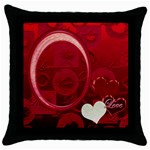 Love Red throw pillow - Throw Pillow Case (Black)