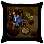 Love gold circles19 throw pillow - Throw Pillow Case (Black)