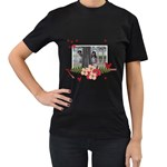 Women s Black T-Shirt  - Forever Love