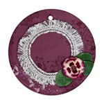Purple Gardens- ornament (2 sides) - Round Ornament (Two Sides)