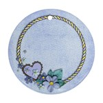 Blue Flowers- ornament (2 sides) - Round Ornament (Two Sides)