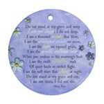 In Memory/Memorial Poem- ornament (2 sides) - Round Ornament (Two Sides)