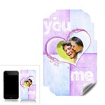 You & Me Harlequin heart iPhone 3 3GS Skin - Apple iPhone 3G 3GS Skin