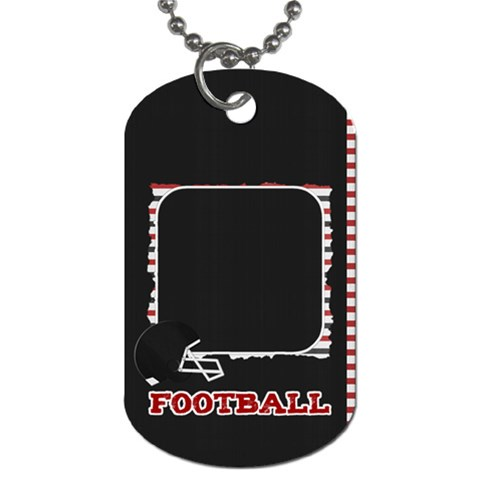 Touchdown (black And Red) Dog Tag By Chelsea Winsor   Dog Tag (one Side)   Nr4ndgtyo8kv   Www Artscow Com Front