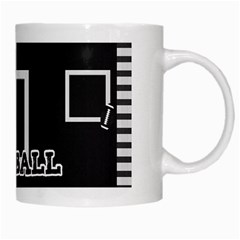 Touchdown (black And Red) Mug By Chelsea Winsor   White Mug   Cab9zd1fbqv4   Www Artscow Com Right