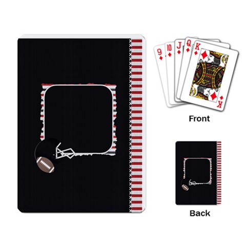 Touchdown (black And Red) Playing Cards By Chelsea Winsor   Playing Cards Single Design   S2u8mrdlwavf   Www Artscow Com Back