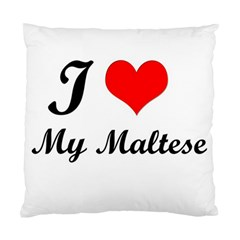 I Love My Maltese Cushion Case (two Sides) by happyc