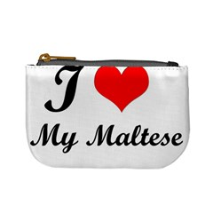 I Love My Maltese Mini Coin Purse