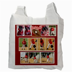 2010 Dylans First Baseball By Barbara   Recycle Bag (two Side)   I1l71wdju90j   Www Artscow Com Back