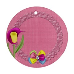 Eggzactly Spring Easter Round Ornament 1 By Lisa Minor   Round Ornament (two Sides)   1obp783zvtua   Www Artscow Com Front