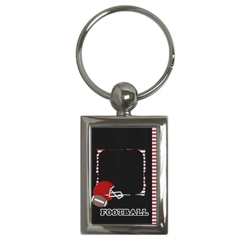 Touchdown (black And Red) Keychain By Chelsea Winsor   Key Chain (rectangle)   F3flydn1so2u   Www Artscow Com Front