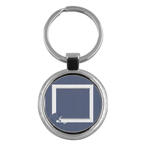 Touchdown (green And Blue) Keychain 2 By Chelsea Winsor   Key Chain (round)   Mw8dm7cwzc8q   Www Artscow Com Front