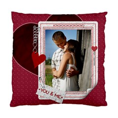 You & Me Heart 2 Sided Cushion Case By Lil    Standard Cushion Case (two Sides)   N37854rz56f0   Www Artscow Com Front