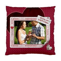 You & Me Heart 2 Sided Cushion Case By Lil    Standard Cushion Case (two Sides)   N37854rz56f0   Www Artscow Com Back
