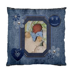 Denim Delight 2 Sided Cushion Case By Lil    Standard Cushion Case (two Sides)   C6u7mbmgaum9   Www Artscow Com Front