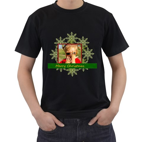 Merry Christmas By Joely   Men s T Shirt (black)   Caqqllfkx4vt   Www Artscow Com Front