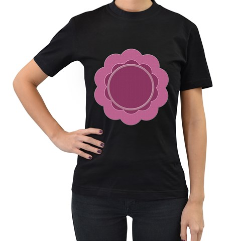 My Flower T Shirt By Daniela   Women s T Shirt (black)   U61x9kvd5v0b   Www Artscow Com Front
