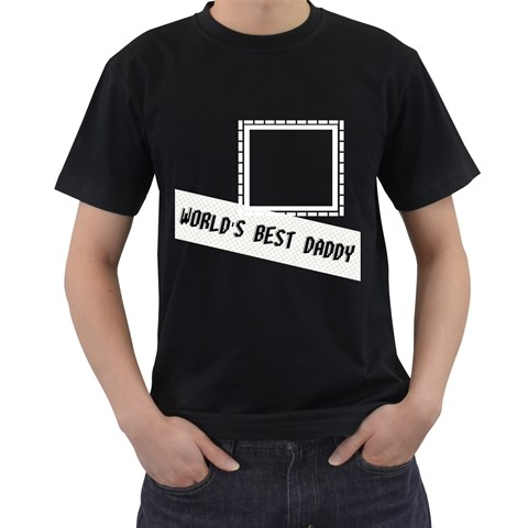 World s Best Daddy T Shirt By Daniela   Men s T Shirt (black)   Heq17qh60oo3   Www Artscow Com Front