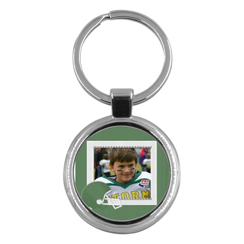 Dj Football By Marlene Carden   Key Chain (round)   5smwk5nm0oa0   Www Artscow Com Front