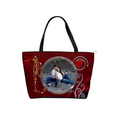 Red Hot Classic Shoulder Handbag By Lil    Classic Shoulder Handbag   Yoa36egc75ah   Www Artscow Com Front