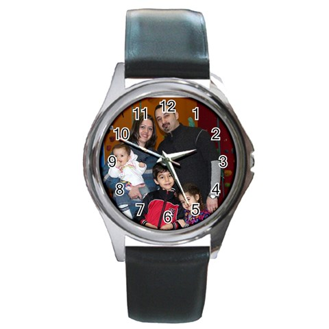 Us By Yulia   Round Metal Watch   6yxubptnlg92   Www Artscow Com Front