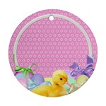 Easter Ducklings Round Ornament - Round Ornament (Two Sides)