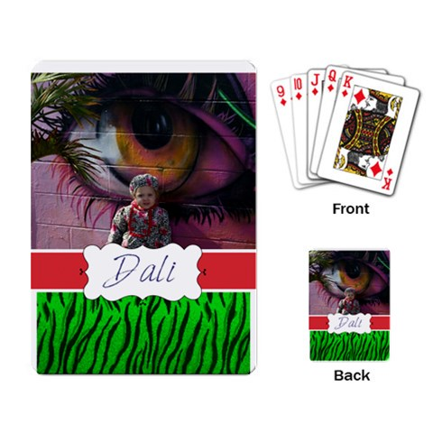 Dali Playing Card By Sky   Playing Cards Single Design   95vrwymyj3nh   Www Artscow Com Back