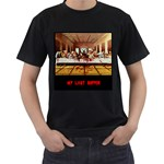 satan last supper - Men s T-Shirt (Black)