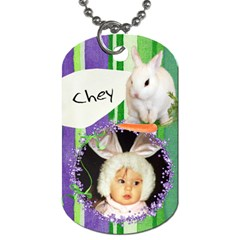 2 Sided Easter Basket Dogtag By Laurrie   Dog Tag (two Sides)   Ma29fzuftq9o   Www Artscow Com Front