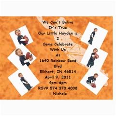 Birthday Invite By Nichole   5  X 7  Photo Cards   1xn7fnq8005y   Www Artscow Com 7 x5 Photo Card - 6