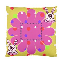Funny Bunny Cushion Case By Daniela   Standard Cushion Case (two Sides)   R4d11qyf63ff   Www Artscow Com Front
