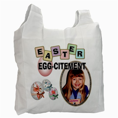 Easter Egg Citement #2 Recycle Bag By Lil    Recycle Bag (one Side)   33jgufsj0pnl   Www Artscow Com Front