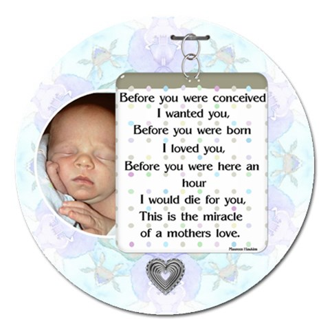 A Mother s Love 5  Magnet By Lil    Magnet 5  (round)   0rpn0rrp83gj   Www Artscow Com Front