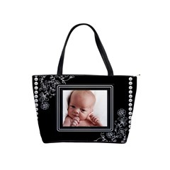 Simple Black/white Classic Shoulder Handbag By Lil    Classic Shoulder Handbag   Fqz9az4ubo6c   Www Artscow Com Front