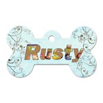 Rusty Puppy Dog Tag - Dog Tag Bone (Two Sides)