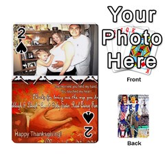 Ashleigh & Raul Quiroz Family s Cards By Pamela Sue Goforth   Playing Cards 54 Designs   Xe0yknn84jma   Www Artscow Com Front - Spade2