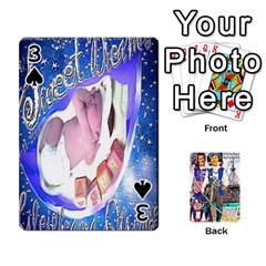 Ashleigh & Raul Quiroz Family s Cards By Pamela Sue Goforth   Playing Cards 54 Designs   Xe0yknn84jma   Www Artscow Com Front - Spade3