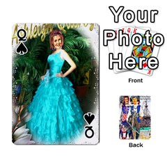 Queen Ashleigh & Raul Quiroz Family s Cards By Pamela Sue Goforth   Playing Cards 54 Designs   Xe0yknn84jma   Www Artscow Com Front - SpadeQ