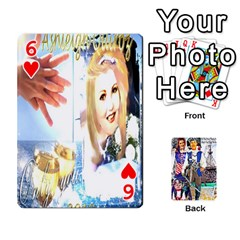 Ashleigh & Raul Quiroz Family s Cards By Pamela Sue Goforth   Playing Cards 54 Designs   Xe0yknn84jma   Www Artscow Com Front - Heart6