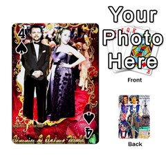 Ashleigh & Raul Quiroz Family s Cards By Pamela Sue Goforth   Playing Cards 54 Designs   Xe0yknn84jma   Www Artscow Com Front - Spade4