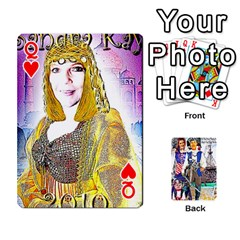 Queen Ashleigh & Raul Quiroz Family s Cards By Pamela Sue Goforth   Playing Cards 54 Designs   Xe0yknn84jma   Www Artscow Com Front - HeartQ