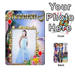 Ashleigh & Raul Quiroz Family s Cards By Pamela Sue Goforth   Playing Cards 54 Designs   Xe0yknn84jma   Www Artscow Com Front - Diamond7