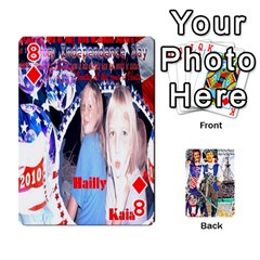 Ashleigh & Raul Quiroz Family s Cards By Pamela Sue Goforth   Playing Cards 54 Designs   Xe0yknn84jma   Www Artscow Com Front - Diamond8
