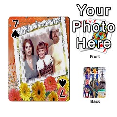 Ashleigh & Raul Quiroz Family s Cards By Pamela Sue Goforth   Playing Cards 54 Designs   Xe0yknn84jma   Www Artscow Com Front - Spade7