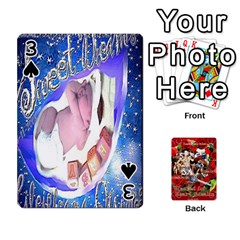Stephen & Chase, Kiai , Hailly & Dianne Mckee Family s Cards By Pamela Sue Goforth   Playing Cards 54 Designs   Nfb9e3rbb6kv   Www Artscow Com Front - Spade3